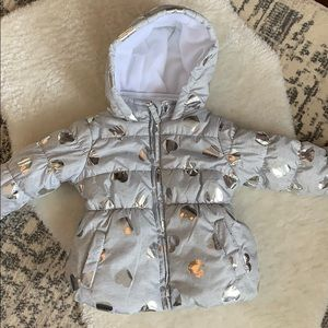 2 for $12 - Silver and grey puffer coat